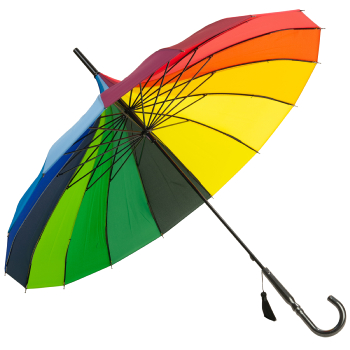 Classic Pagoda Umbrella from Soake - Rainbow