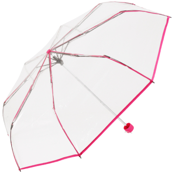 Soake Clear Folding Umbrella - Fuchsia