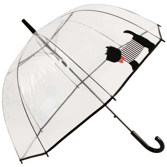 Clear See-through Dome Umbrella - Scotty Dog