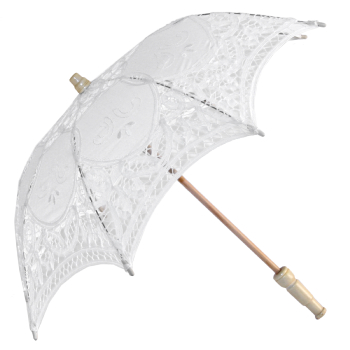 Alice Lace Parasol for Children in White