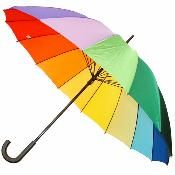 X-Hire Pack - Large Rainbow Umbrella - Pack of 7