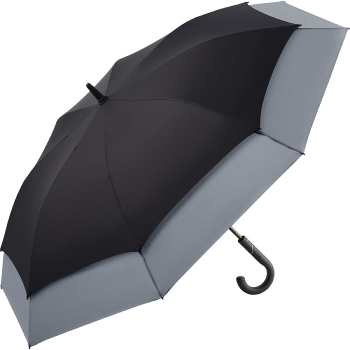 Windfighter 'Stretch' Vented Performance Golf Umbrella - Black & Grey