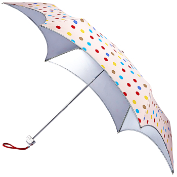 Fulton Parasoleil UVP 50+ Folding Umbrella - Coloured Polka Dot