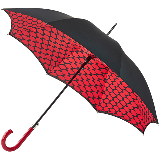 Lulu Guinness Umbrella Bloomsbury - Lips Grid