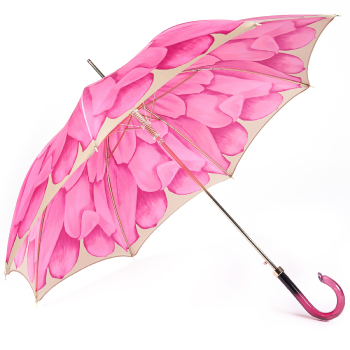 Dahlia Fuchsia Single Canopy - Luxury Ladies Automatic Umbrella by Pasotti
