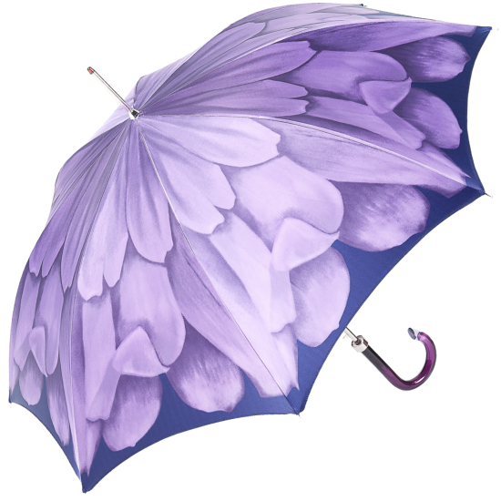Dahlia Violet Single Canopy - Luxury Ladies Automatic Umbrella by Pasotti