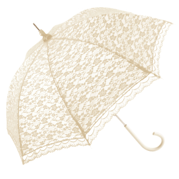 Ex Hire - Romantica Lace Umbrella - Ivory