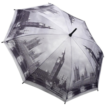 Galleria Art Print Walking Length Umbrella - London