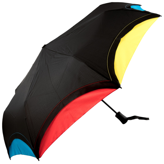 Automatic Open Rainbow Folding Umbrella - Black