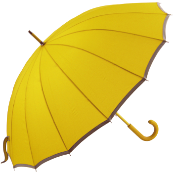 Sedici Fibreglass 16 Rib Umbrella - Golden Yellow