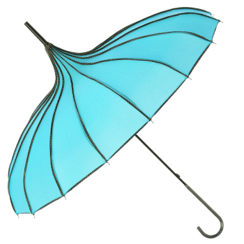 Boutique Ribbed Pagoda Umbrella by Soake - Teal