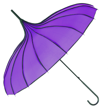 Boutique Ribbed Pagoda Umbrella by Soake - Violet
