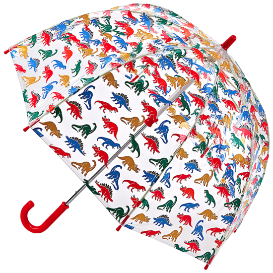Cath Kidston Kids See through Dome Umbrella - Dino Stamp