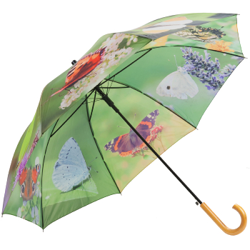 Butterflies Walking Length Umbrella by Fallen Fruits