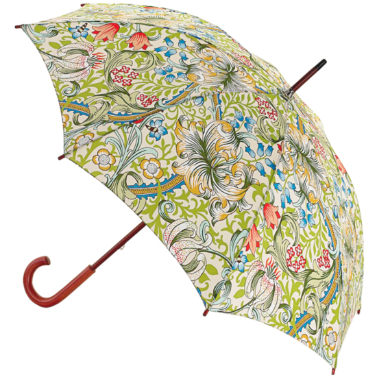 Morris & Co Kensington Ladies Walking Length Umbrella - Golden Lily