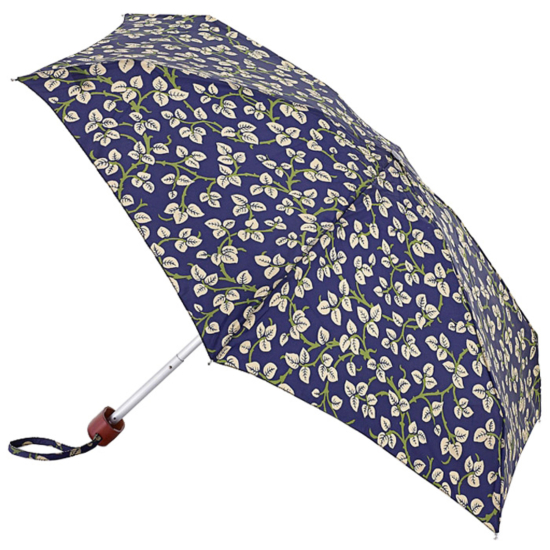 Morris & Co Tiny by Fulton - Lightweight Folding Umbrella - Merton Leaf