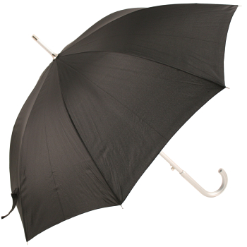 Colours - Plain Coloured Umbrella - Black