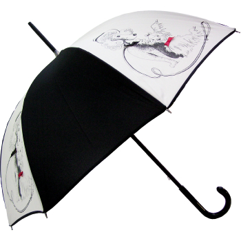 Dogs with Bows Umbrella by Guy De Jean