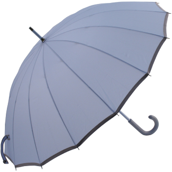 Sedici Fibreglass 16 Rib Umbrella - Powder Blue