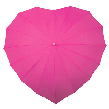 Heart Umbrella - Fuchsia Pink