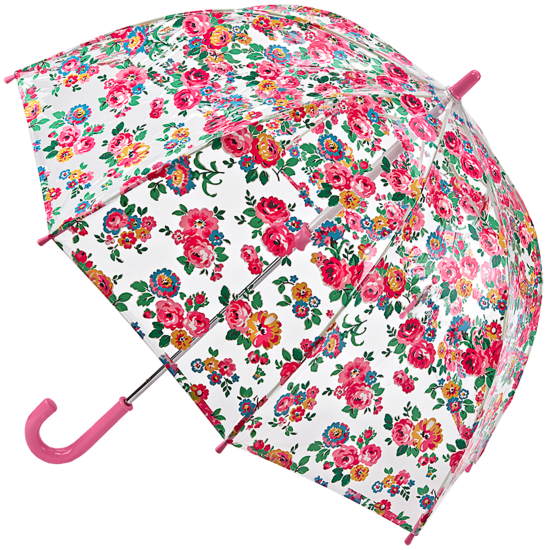 Cath Kidston Clear Dome Funbrella for Children - Well Rose