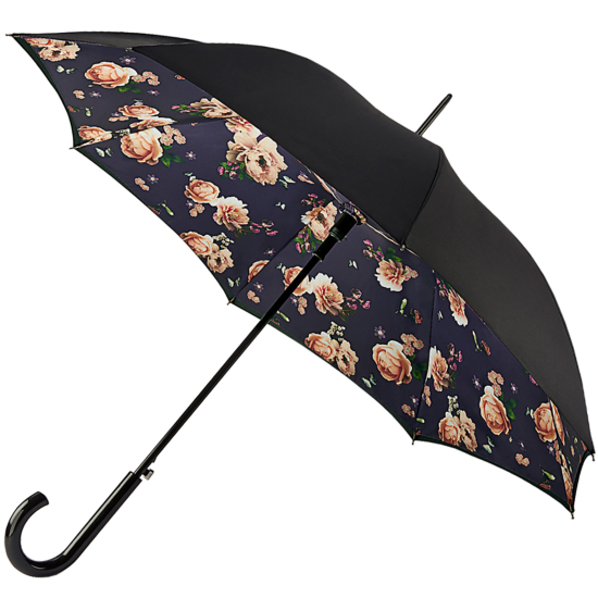 Fulton Bloomsbury Double Canopy Umbrella - Midnight Bloom