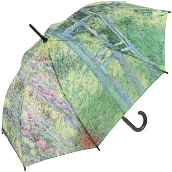Galleria Art Print Walking Length Umbrella - Monet's Japanese Bridge