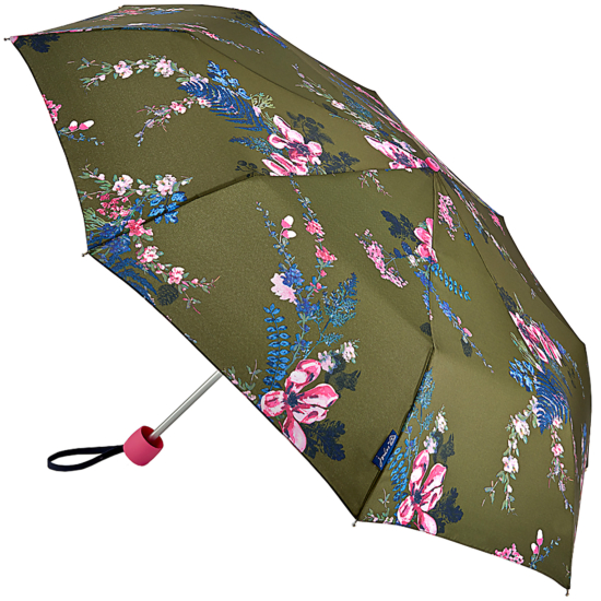 Joules Minilite Folding Umbrella - Grape Leaf Harvest