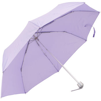 Mini Colours - Plain Coloured Folding Umbrella - Lilac