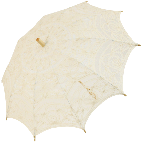 Louisa Lace Parasol - Cream