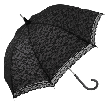 Romantica Lace Umbrella - Black