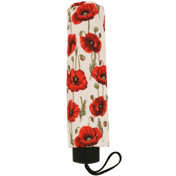 Signare Straight Handle Manual Folding Umbrella - Poppy