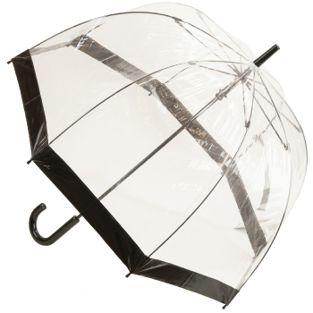 Soake Clear Deep Dome Umbrella - Black Trim