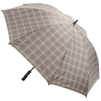Tartan Golf Umbrella - Grey & Purple