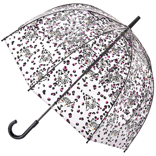 Fulton Birdcage Clear Dome Umbrella - Leopard Camo