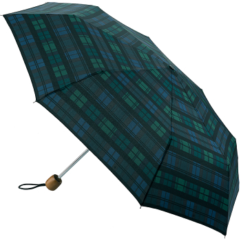 Fulton Stowaway Deluxe Manual Folding Umbrella - Moody Check