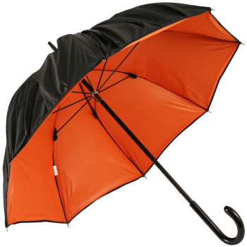 Double Plisse Orange Umbrella by Jean Paul Gaultier