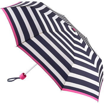 Joules Minilite Folding Umbrella - Wide Coastal Stripe