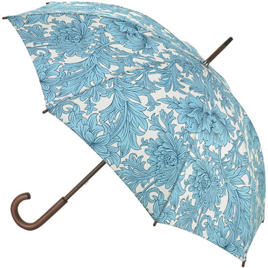 Morris & Co Roma Ladies Walking Length Umbrella - Chrysanthemum Toile