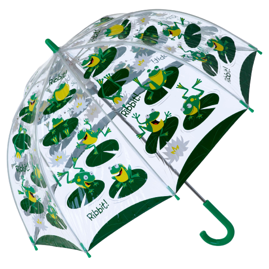 Bugzz PVC Dome Umbrella for Children (New Design) - Hopping Frogs