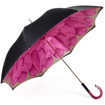 Dahlia Fuchsia Double Canopy - Luxury Ladies Umbrella by Pasotti