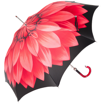 Lotus Red Luxury Ladies Automatic Umbrella by Pasotti