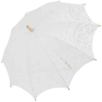 Louisa Lace Parasol - White