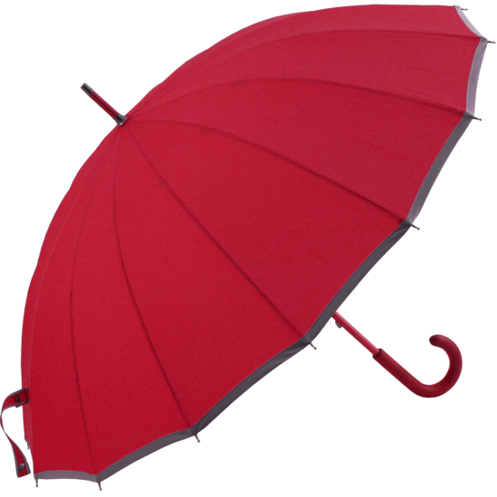 Sedici Fibreglass 16 Rib Umbrella - Wine