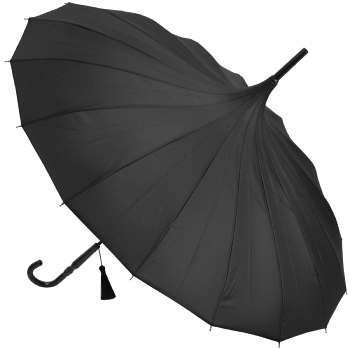 Classic Pagoda Umbrella from Soake - Black