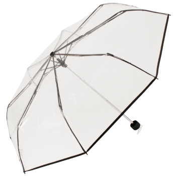 Soake Clear Folding Umbrella - Black