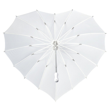 Heart Umbrella - White