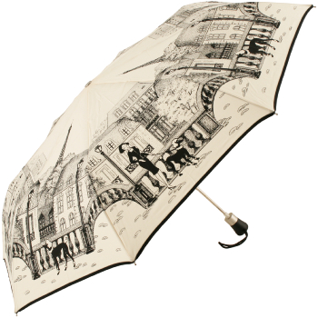 Parisienne Poodle Auto Opening Folding Umbrella by Guy de Jean