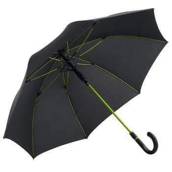 Performance Windfighter Auto Open Walking Length Umbrella - Anthracite & Lime