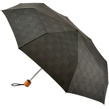 Fulton Stowaway Deluxe Manual Folding Umbrella - Smoky Grey Check